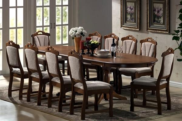 EUROPA étkezőgarnitúra: 6-10 fős klasszikus fa étkezőasztal + ...
