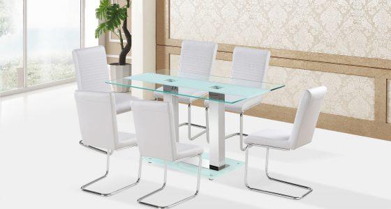 fényes asztal székekkel